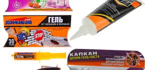 Gels von Kakerlaken und Nuancen ihrer Anwendung (Brownie, Trap, Killer, etc.)