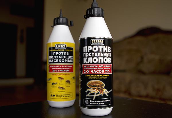 Eine Reihe von pulverisierten Insektenschutzmitteln Hector