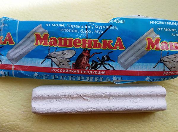 Insektizid Buntstift Mascha, wenn richtig verwendet, hilft auch, Bettwanzen im Haus zu kämpfen.