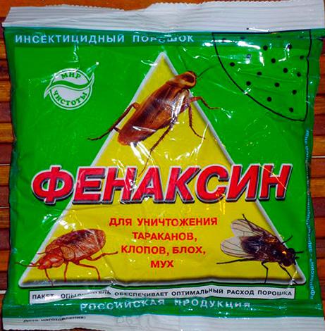 Pulverisierte Insektizide Mittel von Kakerlaken, Käfer, Fliegen und Flöhe Fenaksin