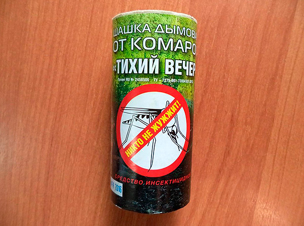 Insect Perimetric Rauchbombe Silent Evening - obwohl es als Mückenschutzmittel positioniert ist, ist es auch sehr effektiv gegen Kakerlaken.