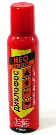 Wenn die Insekten in der Falle noch am Leben sind und es viele davon gibt, lohnt es sich, sie mit einem insektiziden Mittel zu vergiften, zum Beispiel Dichlorvos Neo