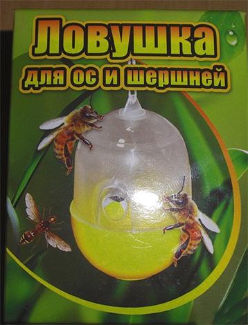 Das Foto zeigt ein Beispiel für eine Falle für Wespen und Hornissen industrieller Produktion.