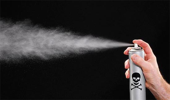 Eine Besonderheit von Aerosol-Wirkstoffen ist die hohe Insektenvernichtungsrate, so dass sie direkt mit dem Wespennest behandelt werden können.