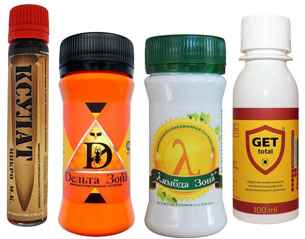 Konzentrate von modernen Insektiziden (zum Verdünnen und anschließenden Sprühen), insbesondere mikroverkapselt, sind sehr wirksam gegen Holzläuse.