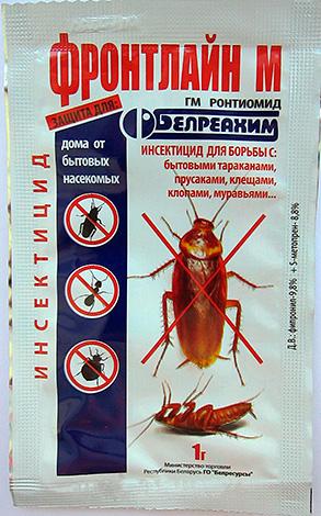 Front Line M - Pulver zur Bekämpfung von Kakerlaken, Hausameisen, Milben und Wanzen.