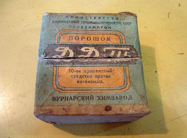 Douste (DDT), jetzt für den Einsatz verboten.