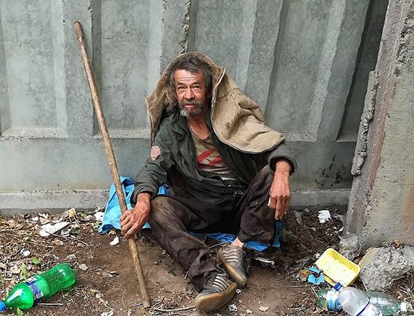Bei Obdachlosen finden sich oft Waschlappen.